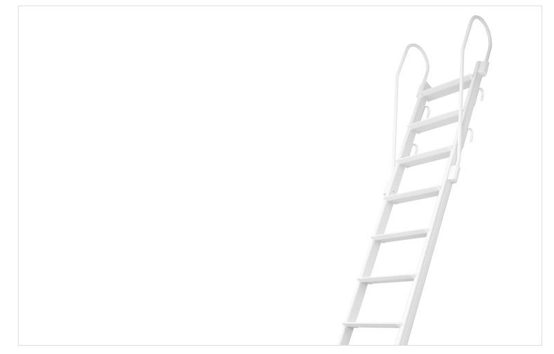 金属製ロフトはしごホワイトラダー(アルミ製)の特長