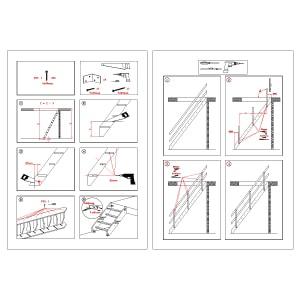 木製ロフト階段デザインステップの施工手順書
