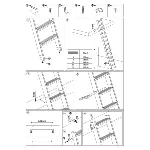 木製ロフトはしご北欧ラダーの施工手順書