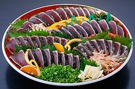 黒潮産鰹たたき 鰹たたき皿鉢
