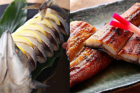 サバ姿寿司・炭火うなぎ蒲焼き 満腹セット