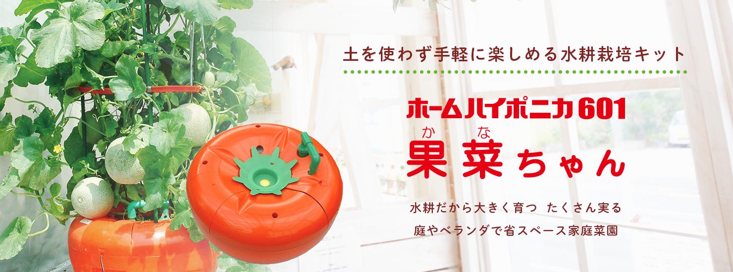 土を使わず手軽に楽しめる水耕栽培キット ホームハイポニカ601果菜ちゃん