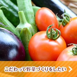 こだわって野菜作りをしたい
