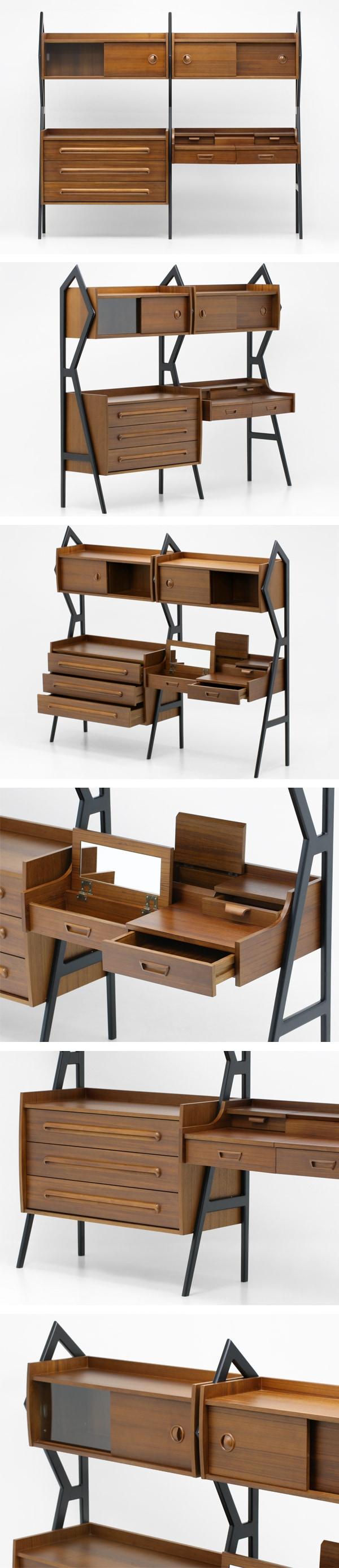 北欧デザイン家具,チーク材,キャビネット,デスク