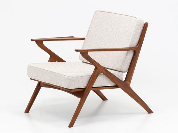 北欧,デザイン,家具,クロッケン,チーク材,1人掛け,ソファ,ベージュ