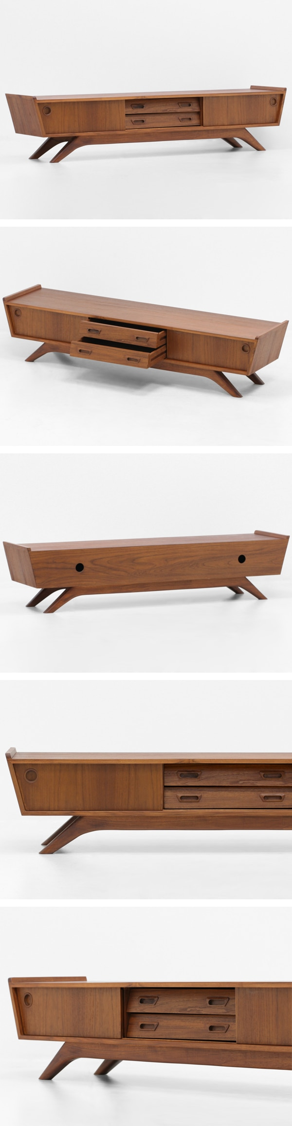 北欧デザイン家具,Klokken,クロッケン,チーク材,テレビボード,TVボード,サイドボード