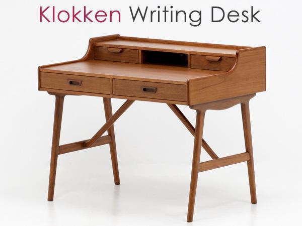 北欧デザイン家具,Klokken,クロッケン,チーク材,ライティングデスク,小さめデスク