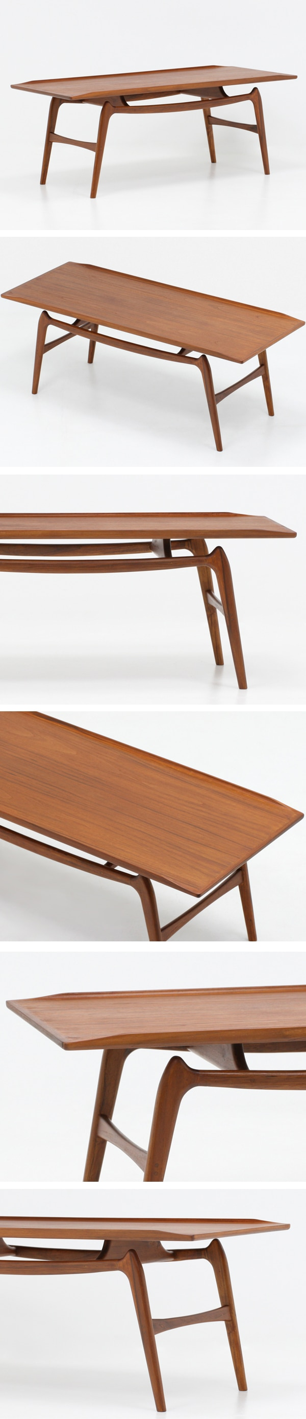 北欧デザイン家具,Klokken,クロッケン,チーク材,コーヒーテーブル,センターテーブル