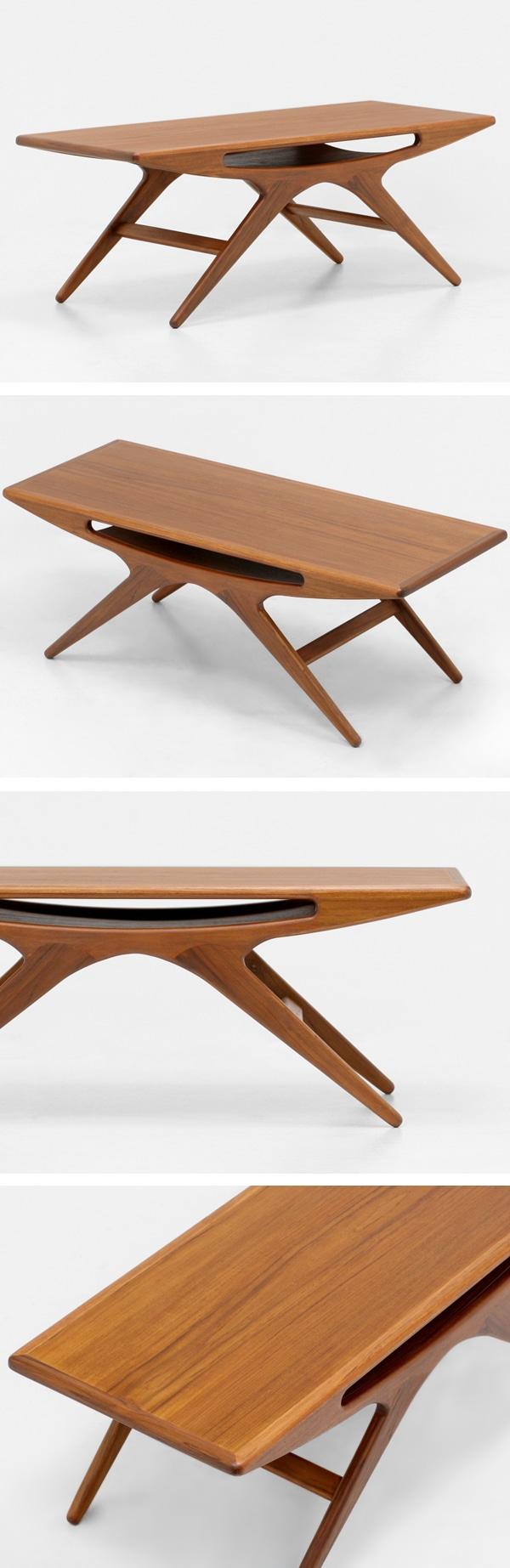 北欧デザイン家具,Klokken,クロッケン,チーク材,コーヒーテーブル,ヨハネスアンダーセン,UFOテーブル,スマイルテーブル