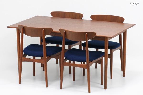 北欧デザイン家具,Klokken,クロッケン,チーク材,ダイニングテーブル