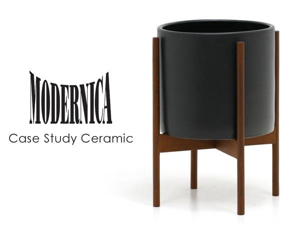 MODERNICA,モダニカ,Ceramic,セラミック,フラワーベース,花瓶,北欧,木製,陶器,黒,ミッドセンチュリー,大型