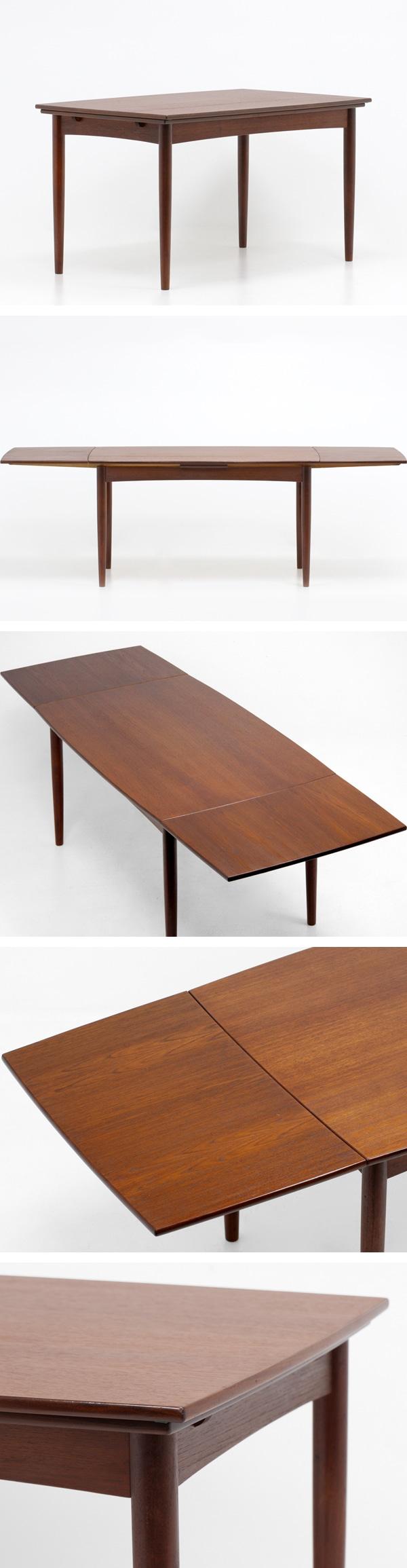 北欧ビンテージ家具,伸長式,ダイニングテーブル,チーク材,エクステンション,中古,デンマーク,おすすめ,通販