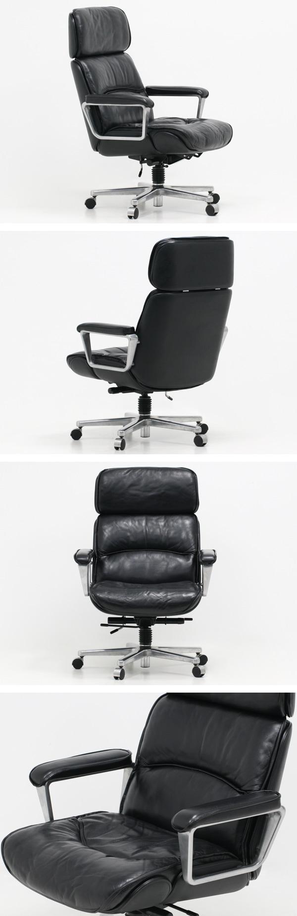 KOKUYO,コクヨ,マネージメントチェア,130シリーズ,中古,本革,ハイバック,オフィスチェア