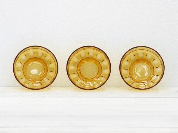 レトロ,アンバーガラス,丸柄,ボウル皿,食器