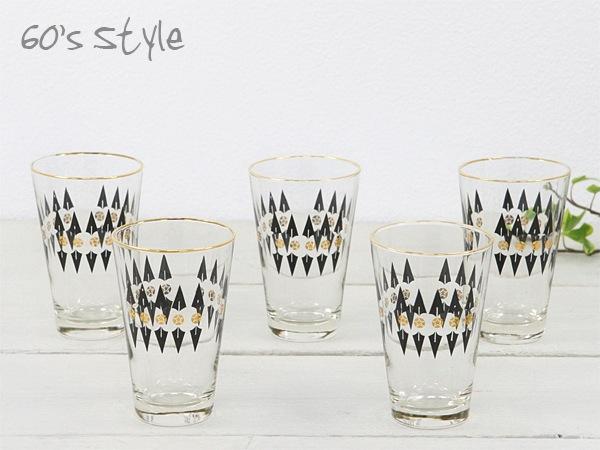 昭和レトロ,ガラス食器,星柄,グラス,セット