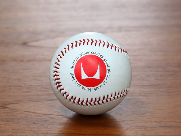 Hermanmiller,ハーマンミラー,野球ボール,硬式,ベースボール,限定品,レアアイテム,コレクターズアイテム,非売品