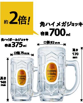 角ハイメガジョッキ(2個)