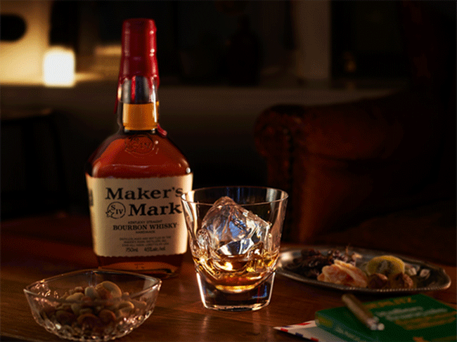 Maker's Mark & Sghr Hand Dippingグラス ギフトセット