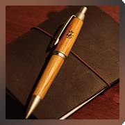 山崎樽材ボールペン