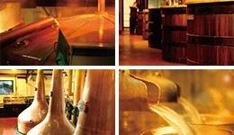 発酵槽は木桶、蒸溜器はストレートヘッド