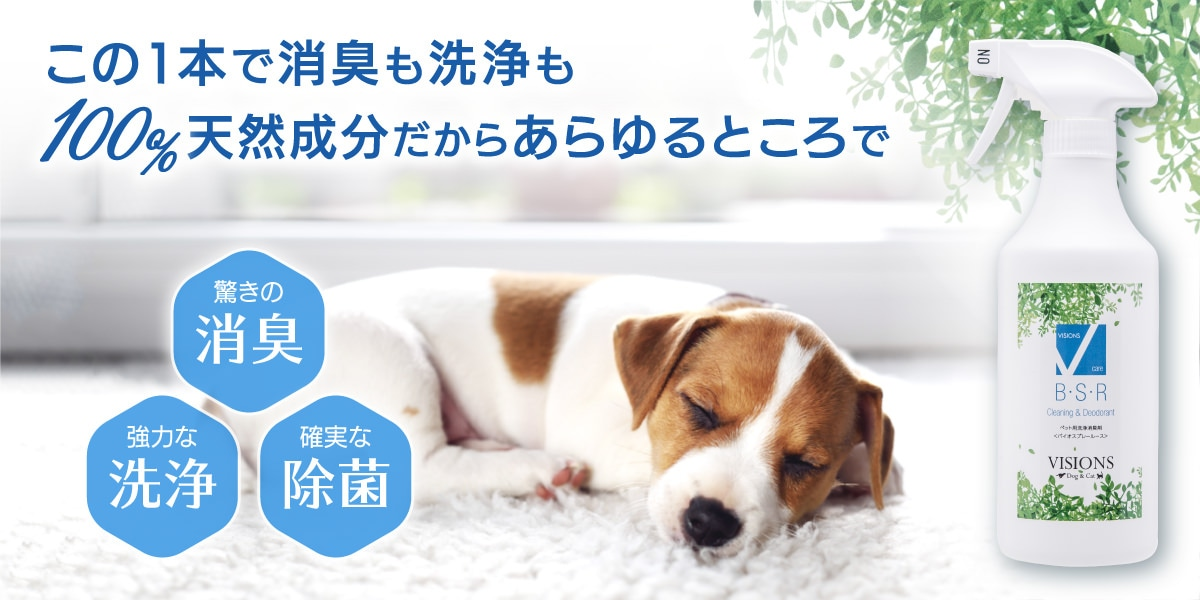 VISIONSオリジナル ペット用洗浄消臭スプレー B・S・R (バイオスプレールース)