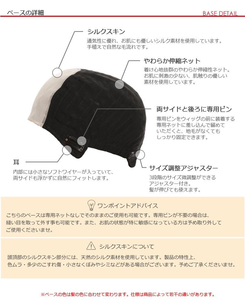 医療用ウイッグのベースの詳細説明
