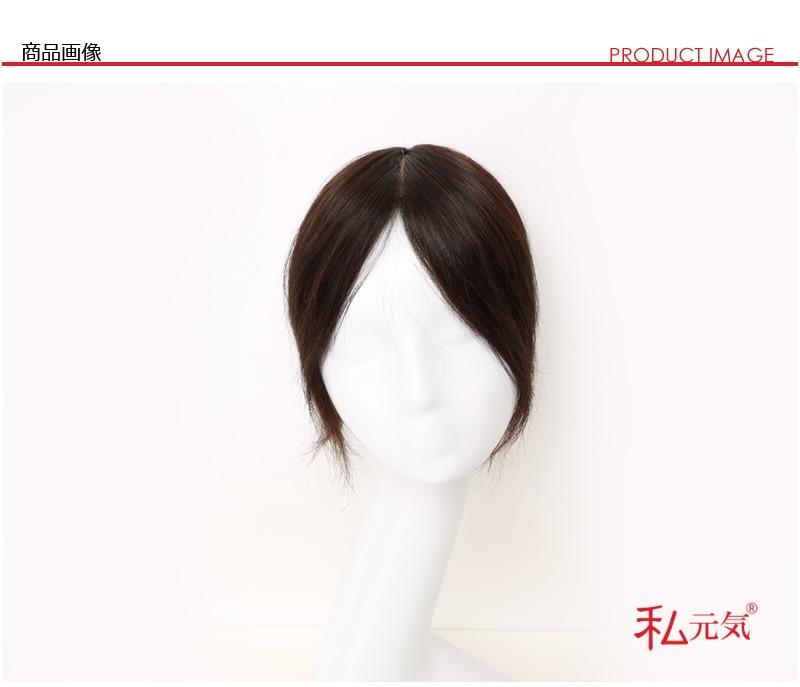 医療用ウイッグ かつら 増毛 白髪隠しボリュームアップ ミセス ポイントウィッグ 頭頂部 部分ヘアー つけ毛 border=