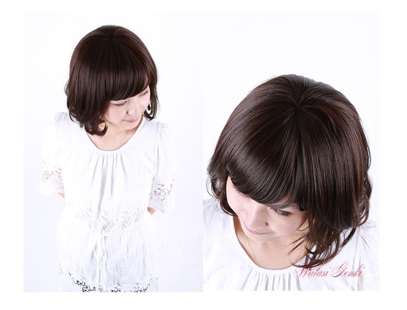 ウィッグ 医療用 かつら 安い 自然 人毛ミックス 女性用 カツラ
