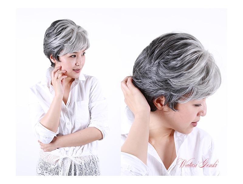 医療用カツラ 抗がん剤 白髪隠し ウィック 軽量 軽い ミセス 40代 50代