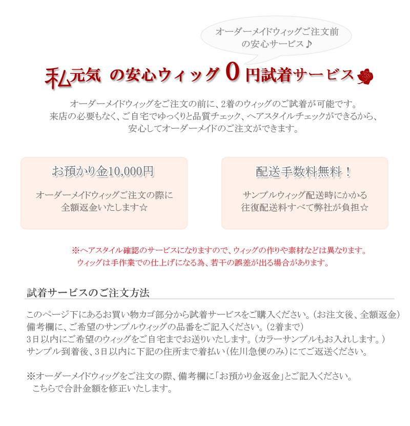 オプションサービス(0円試着)