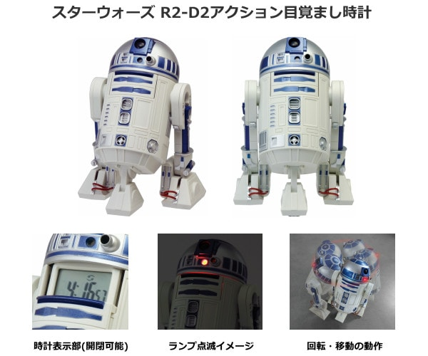 スターウォーズ R2-D2アクション目覚まし時計