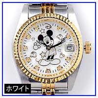 ミッキー時計ホワイト