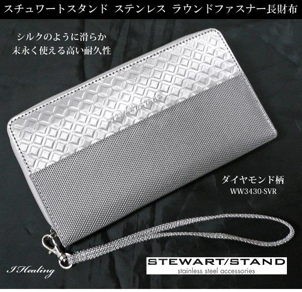ステンレスラウンドファスナー財布