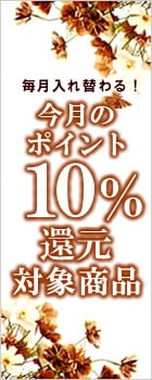 今月のポイント10%還元商品