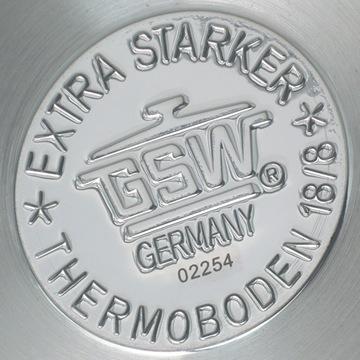 鍋底のロゴ