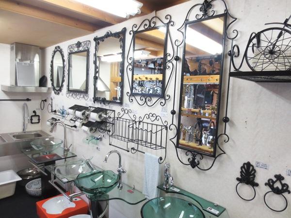 デザインが色々ある洗面鏡