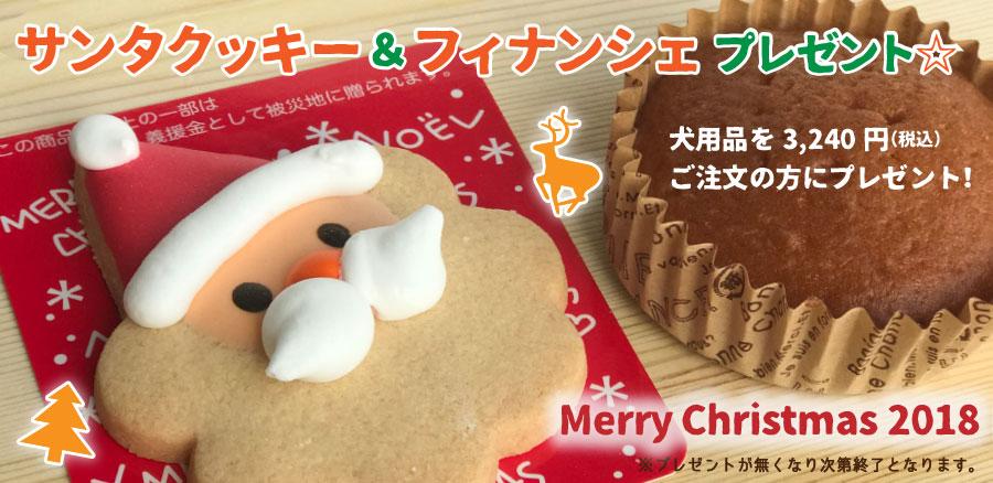 3240円お買い上げでサンタクッキー&フィナシェプレゼント!