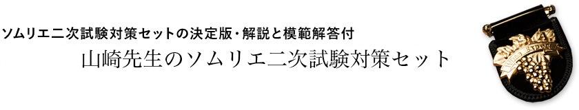 ソムリエ二次試験対策セットの決定版・解説と模範解答付 年山崎先生のソムリエ二次試験対策試飲セット