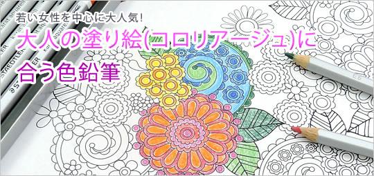 大人の塗り絵(コロリアージュ)に合う色鉛筆