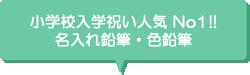 小学校入学祝い人気 No1!!名入れ鉛筆・色鉛筆