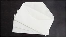 コットン100%の二重封筒