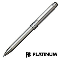 【プラチナ萬年筆】スターリングシルバー ダブル 3 アクション #1 レット(多機能ペン)