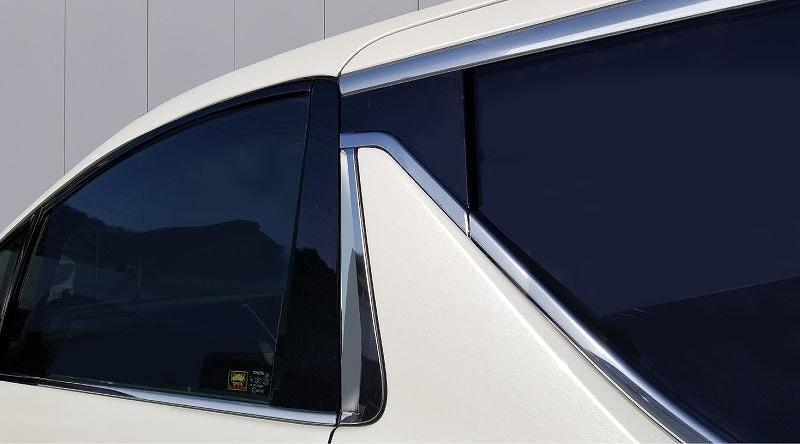 アルファード ヴェルファイア 30系 全グレード トヨタ リア ウィンドウトリム & リア ピラー 左右セット 1
