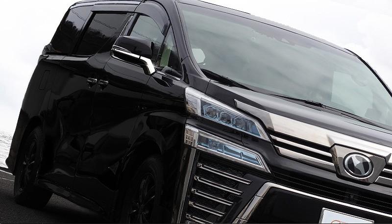 アルファード 30系 ヴェルファイア 30系 全グレード対応 トヨタ サイドミラー/ドアミラー アンダー ライン ガーニッシュ 4P ステンレス鏡面仕上げ13