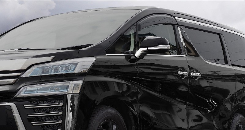 アルファード 30系 ヴェルファイア 30系 全グレード対応 トヨタ サイドミラー/ドアミラー アンダー ライン ガーニッシュ 4P ステンレス鏡面仕上げ7
