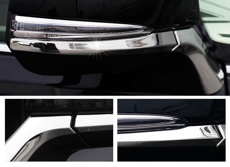 アルファード 30系 ヴェルファイア 30系 全グレード対応 トヨタ サイドミラー/ドアミラー アンダー ライン ガーニッシュ 4P ステンレス鏡面仕上げ9