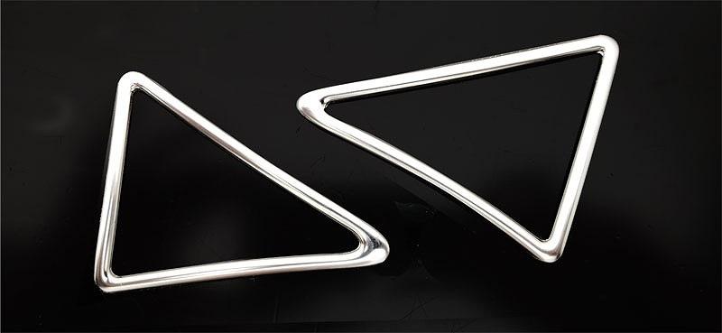 アルファード 30系 ヴェルファイア 30系 全グレード対応 トヨタ 3D立体 デフォッガーベゼルカバー 2P ステンレス鏡面仕上げ1