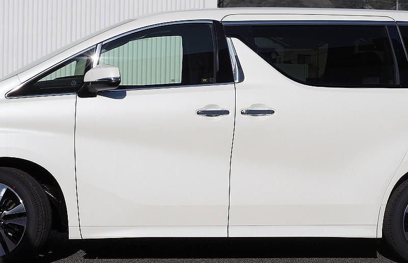 アルファード 30系 ヴェルファイア 30系 全グレード対応 トヨタ 3D立体 デフォッガーベゼルカバー 2P ステンレス鏡面仕上げ10