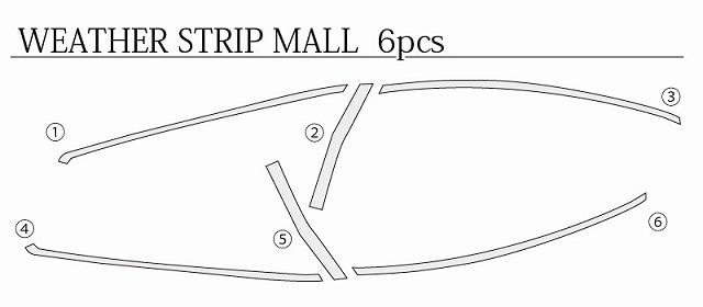 アルファード ヴェルファイア 30系 ウェザーストリップモール & ウェザーストリップ ピラーモール ガーニッシュ ステンレス 外装2点セット