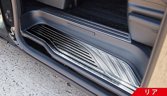 アルファード ヴェルファイア 30系 全グレード対応 トヨタ フロント リア スカッフプレート 8点セット すべり止め付 ステンレス素材17